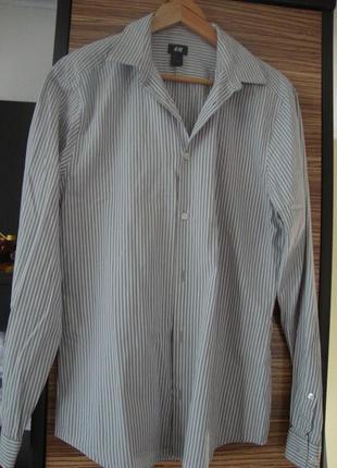 Рубашка в полоску , длинный рукав h&m