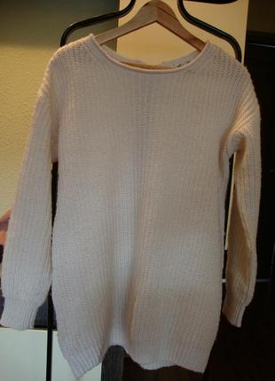 Кофта теплая с замочком грубая вязка new look