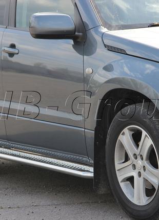 Пороги боковые труба с листом Suzuki Grand Vitara ll (97-21) D60