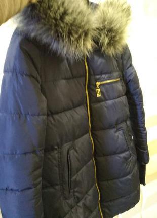 Куртка женская удлиненная парка женская зимняя