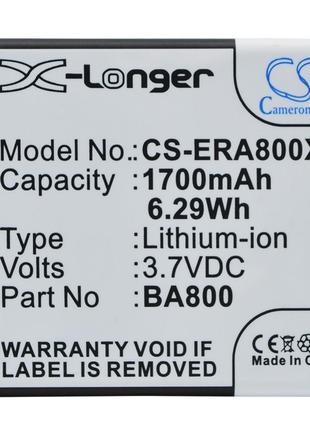 Аккумулятор для Sony Ericsson Xperia VL 1700 mAh