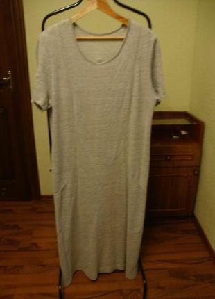 Трикотажное  платье , большой размер
