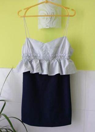 Платье комбез из плотной ткани zara