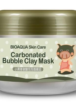 Глиняно пузырьковая очищающая кислородная маска для лица bioaq...