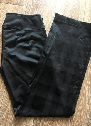 Атласные брюки клетка