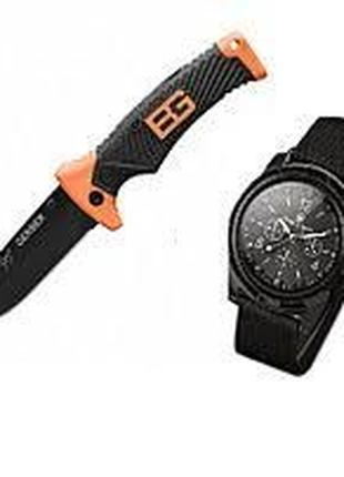 Нож Gerber Bear Grylls Ultimate и часы Swiss Army