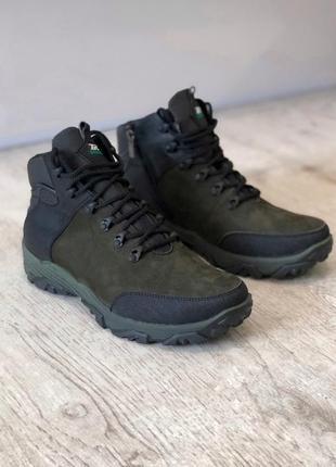 Зимние натуральные кожаные ботинки, кроссовки, хайтопы, спорти...