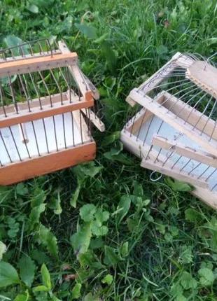 Клетка переноска для птиц, две