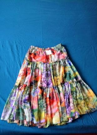 Цветастая юбка итальянского производства