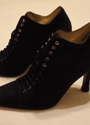 Замшевые туфли на шнуровке sergio rossi
