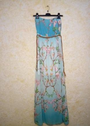 Платье-бандо на подкладке