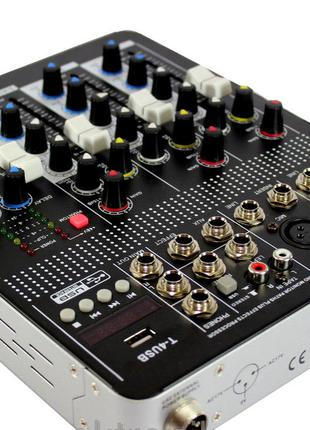 Активный аудио микшер Mixer BT4000 4ch.+BT 20Hz-20KHz, 4 канал...