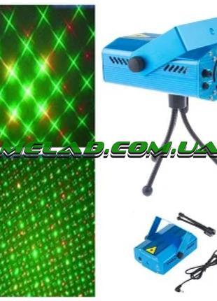 Лазерный проектор Mini Laser RD-7191 от сети, 2 цвета, 15-30 °...