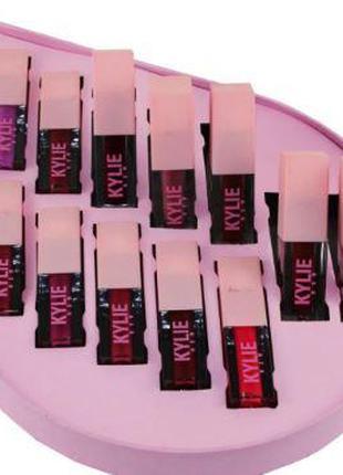 Набор матовых помад Kylie Valentines в наборе 12шт, стойкая, 3...
