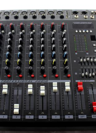 Активный аудио микшер Mixer BT 808D 100 – 240V, Bluetooth, мик...