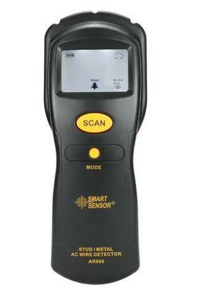 Искатель скрытой проводки и металла AR 906 9v, LCD-дисплей, зв...