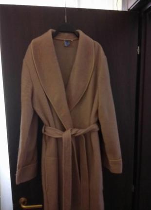 Теплый халат кофейного цвета италия