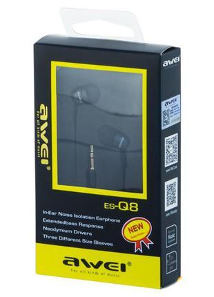 Проводные вакуумные наушники MDR Q8 AWEI в упаковке 20 шт. вкл...