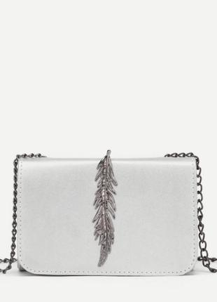 Белая сумка кросс-боди
