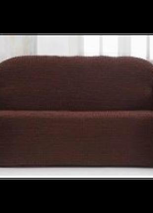 Чехол для дивана Редкурант №3/18 темно-коричневый, размер 170х...