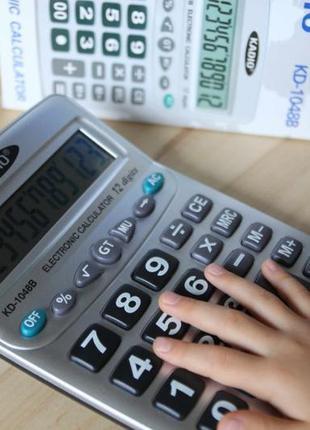 Профессиональные калькулятор Kadio 1048 настольнный, серый, 4х...