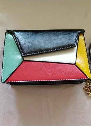 Разноцветная сумка кросс-боди