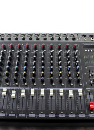Аудио микшер Mixer BT 1208D, усилитель мощности звука, микшерн...