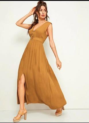 Платье без рукавов из искусственного шелка