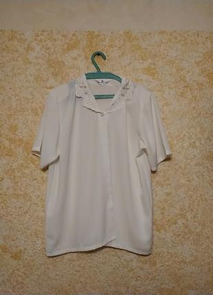 Блуза под шёлк из италии, размер плюс