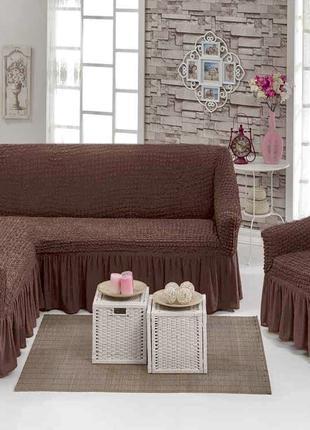 Чехол универсальный на угловой диван+кресло Турция! Чохол