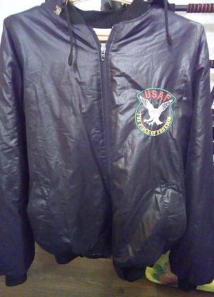 Зимняя двухсторонняя винтажная куртка