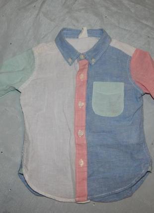 Рубашка модная на мальчика 1,2-2 года  от gap