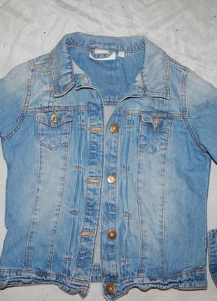 Куртка джинсовая модная на девочку 10-11 лет tammy