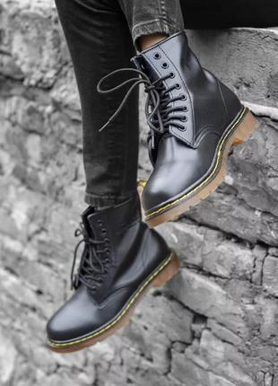 Ботинки зимние dr. martens classic boots / доктор мартинс мех!...
