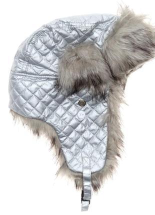 Шапка ушанка зимняя для девочек kiabi франция