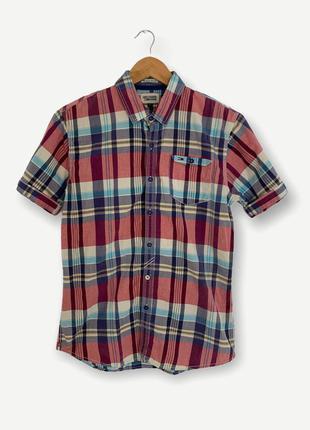 Рубашка сорочка мужская tommy hilfiger короткий рукав