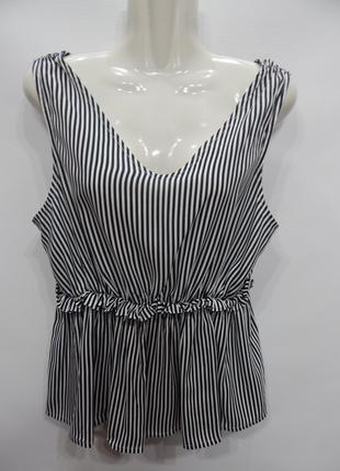 Блуза-топ легкая фирменная женская ONLY 50-52 р., 196бж