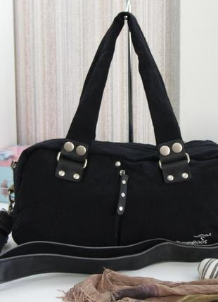 Крутая сумка kangaroos, текстиль.