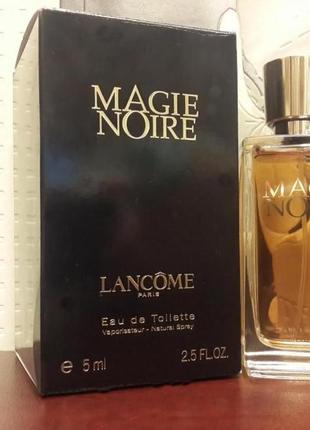 Lancome Magie Noire_винтаж_Оригинал EDP_5 мл затест_парф.вода