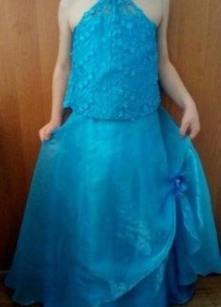 Карнавальный новогодний костюм детский снежинка принцесса зима...