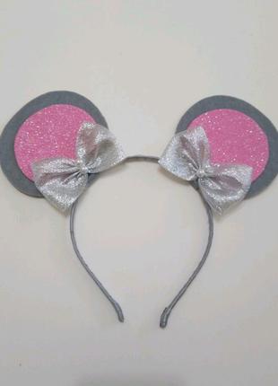 Обруч ушки к карнавальному костюму Мышка