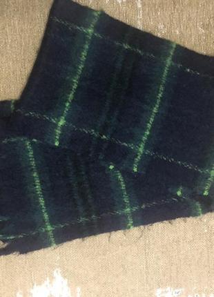 Тёплый объёмный шарф topshop в клетку