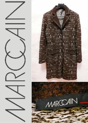 Marc cain-4-шерсть-брендовое пальто-жакет