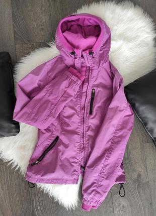 Куртка фиолетовая весенняя осенняя спортивная с капюшоном женская