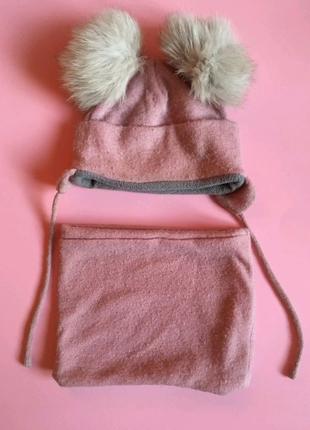 Зимняя шапка и снуд/кольцевой шарф