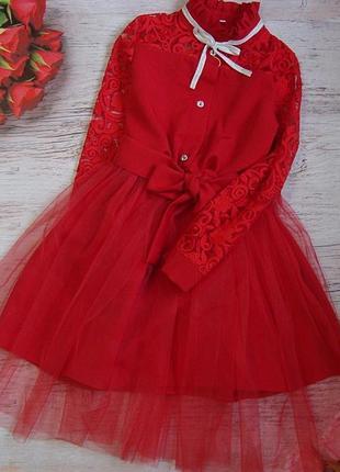 Шикарнейший набор для девочки платье + фатиновая юбочка
