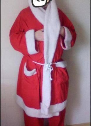 Новогодний костюм мужской для аниматора  деда мороза , санта к...