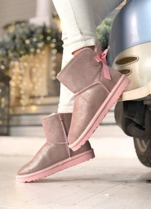 Ugg bailey bow 2! женские замшевые зимние угги/ сапоги/ ботинки/