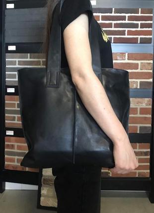 Шикарная сумка из натуральной кожи