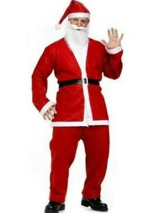 Новогодний костюм мужской деда мороза санта клаус
